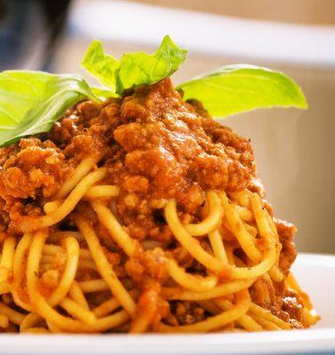 Spaghetti Bolognese Restaurante Italiano Alicante Horno Josper