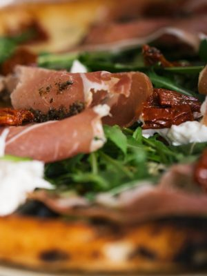 Pizza Bianca Tartufata Restaurante Italiano Alicante Horno Josper